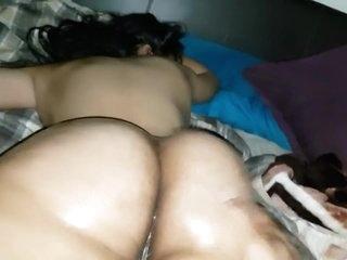 Stranger oils my GF soft curvy jiggly ass & gropes,spanks tickle feet pussy