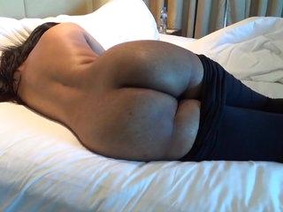 Desi booty show in black tights