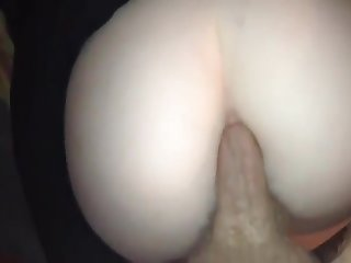 Big Whote Ass Fucked and Cream on Ass