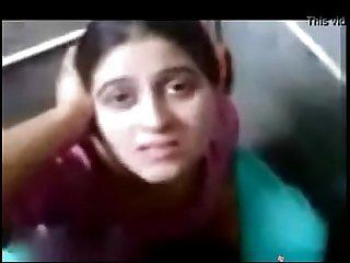 Indian desi bhabhi sucking her boyfriend's dick in bathroom