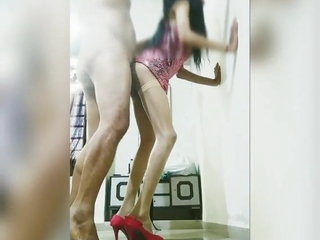 Indian Sissy Crossdresser Getting Fucked By Fat Daddy in Ass