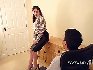 Indian Secretary abused punished tortured and forced to fuck boss who creampies her tight pussy in the office no mercy dirty hindi audio desi chudai leaked scandal sex tape