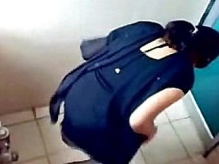 Indian girls caught while pissing in toilets