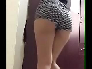Hot Indian school girl booty shaking dance