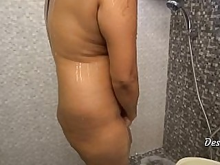 Sexy Indian Women Shower in Bathroom At Home