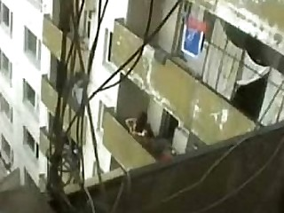Couple enjoying sex on Terrace recorded with hidden cam