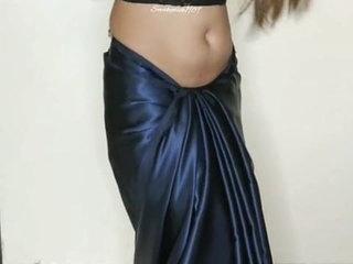 Saree strip tease